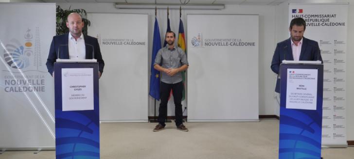 Christopher Gygès et Rémi Bastille, secrétaire général du haut-commissariat, ont animé le point presse du 7 octobre.