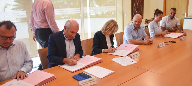 La signature du contrat local de sécurité de la Ville de Nouméa s'est déroulée le 18 mai.