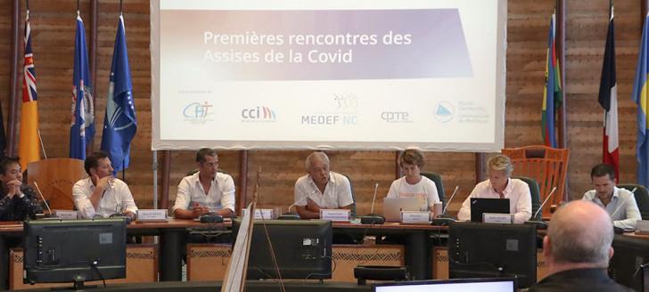 Yannick Slamet, membre du gouvernement chargé de la santé, a ouvert les Assises du Covid à la CPS.