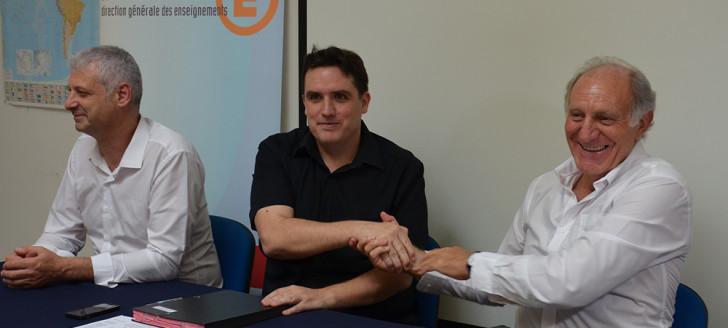 Le président de l'Université, Gaël Lagadec,  et le vice-recteur, Jean-Charles Ringard-Flament, ont signé une convention cadre le 2 mai.